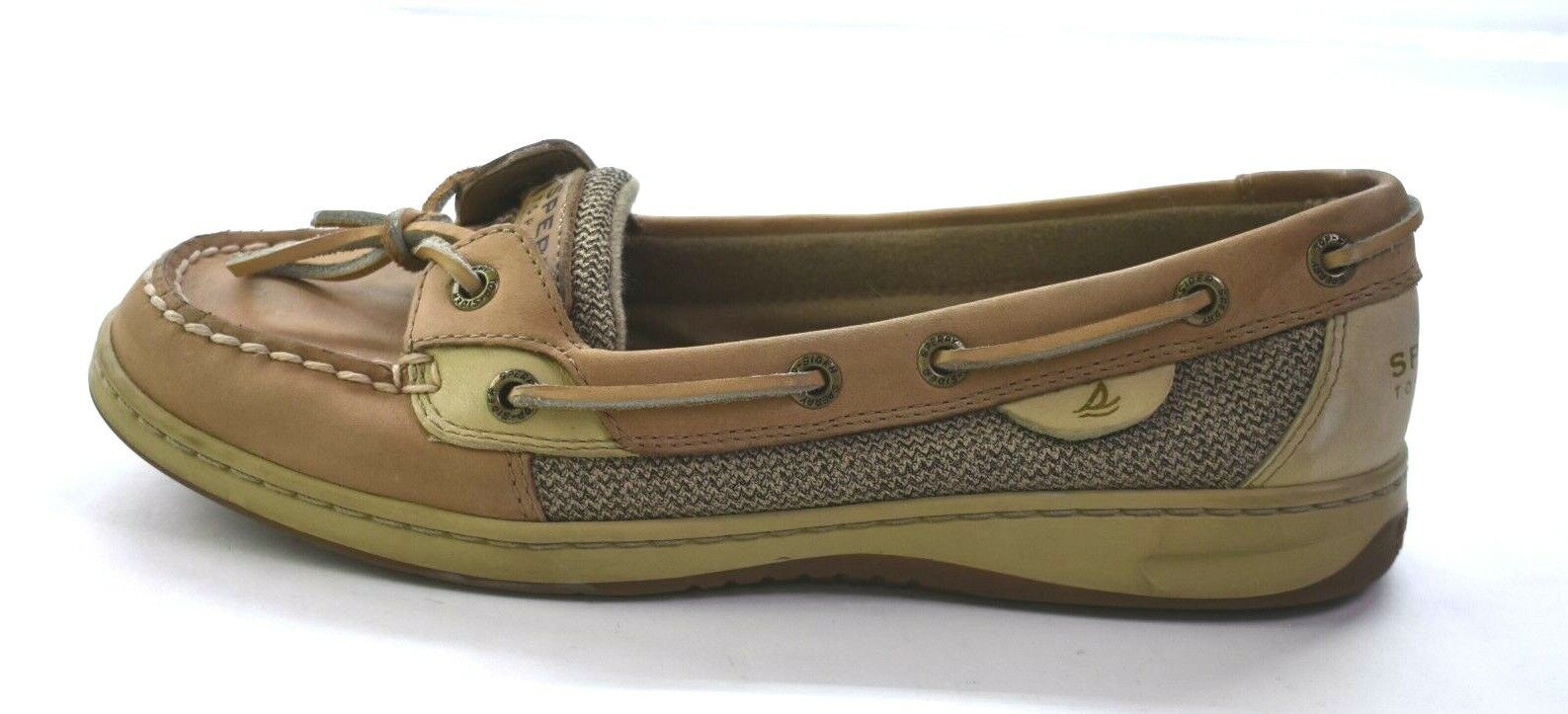Sperry Top Sider Womens Brown Intrepid 2-Eye Nubuck Leather Boat Shoes 8M
