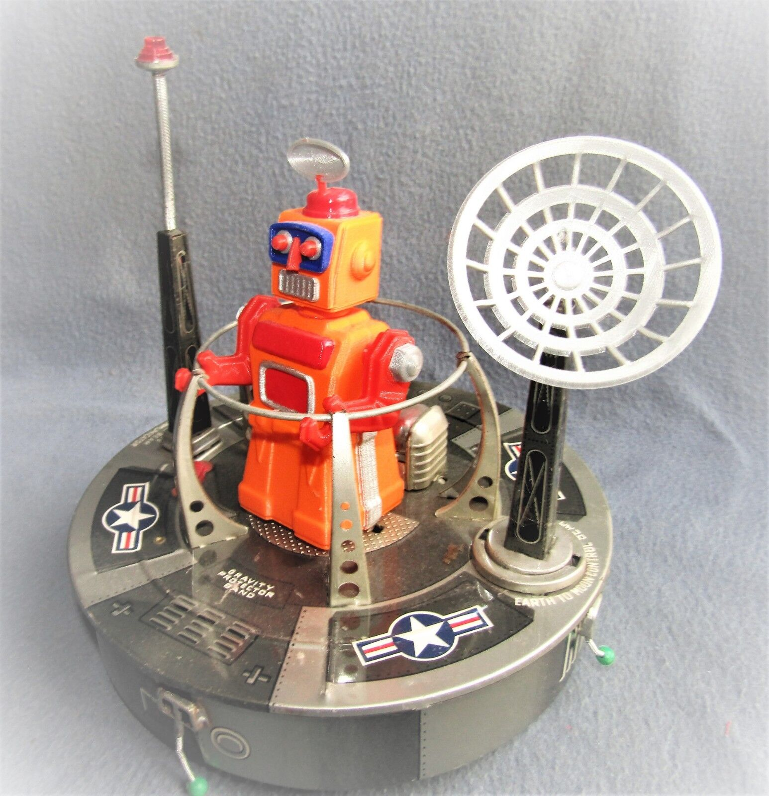 INTERPLANETARY SPACE PLATFORM 1960's JAPAN by LINEMAR Co. EX / WORKING
