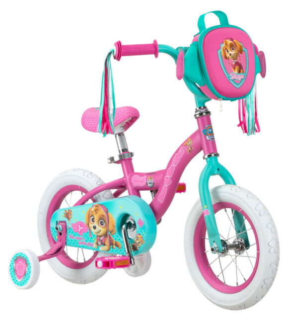 Paw Patrol Skye Kids 2-4 yrs Girls Bike 12-inch Training Wheels Pink Gift NEW