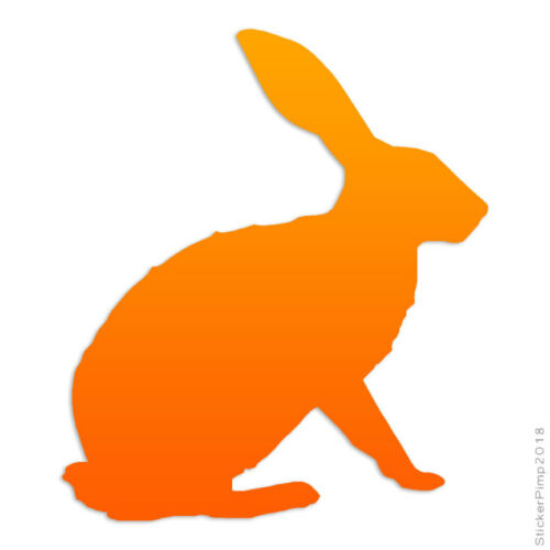 Size #2847 Hare Bunny Rabbit Decal Sticker Choose Pattern