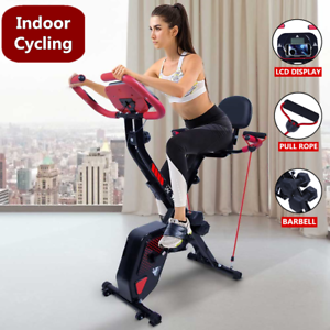 Upright Folding Magnetic Exercise Bike Gym Indoor Fitness Cardio Bicycle Workout