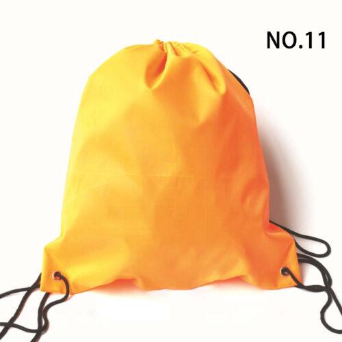 Waterproof Drawstring Backpack Travel Storage Bag Canvas Sports Bag Casual Solid