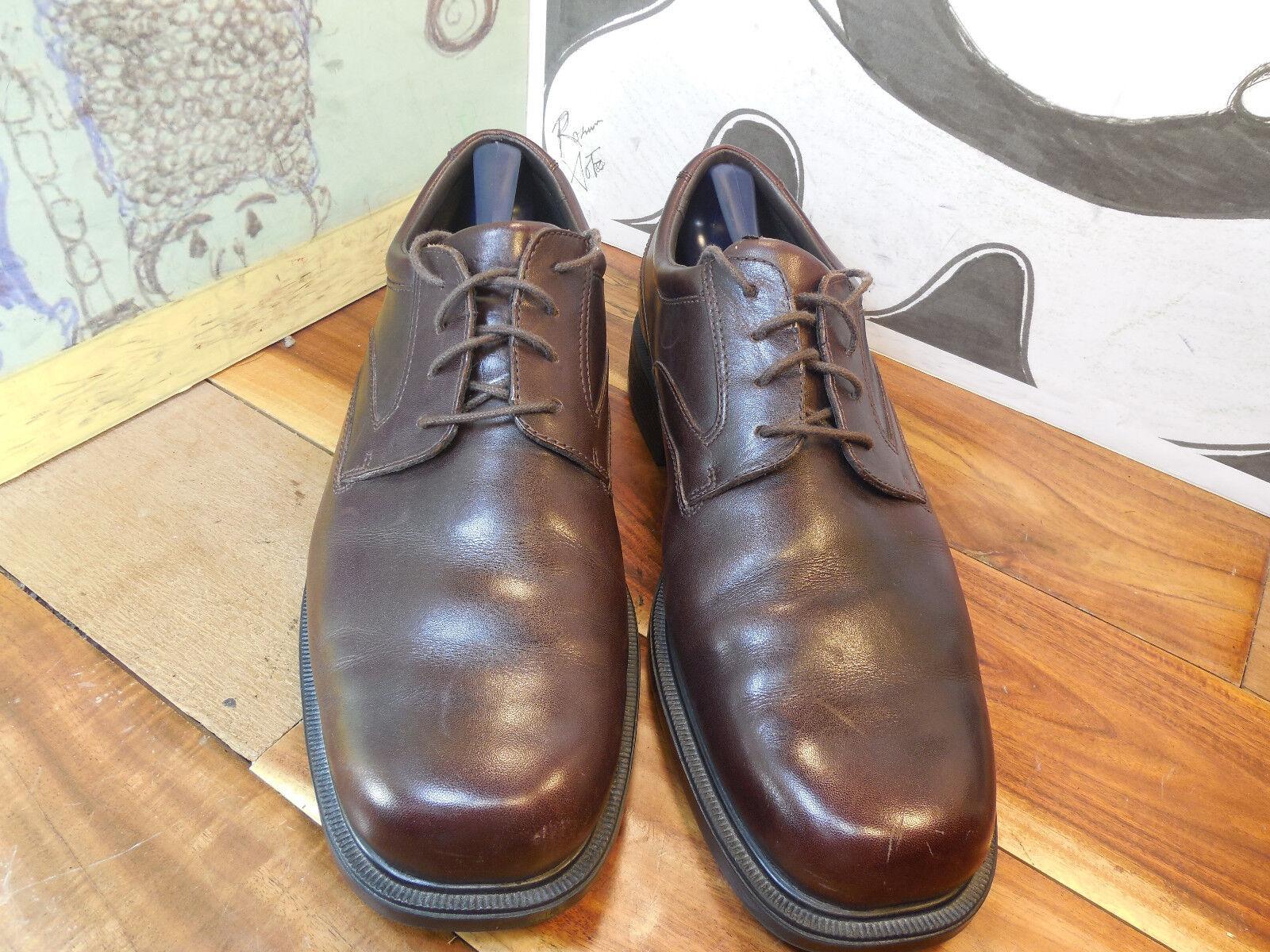 Rockport Brown Leather Oxfords Men's 79182 11.5M #APM 79182 Men's e2e880