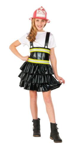 Girls Firefighter Costume Black Dress Child Size Large 12-14