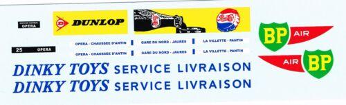 BP air bus Parisien service livraison decals pour Dinky