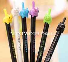 New 6PCS Korea Retractable Cartoon Cat RollerBall Pen/Gel Pen-0.5mm Black Ink