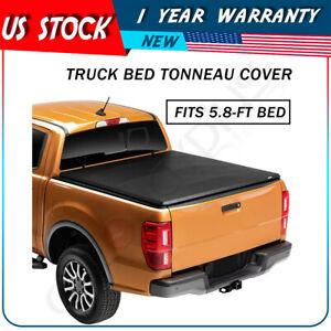 """For 2009-2019 Ram 1500 2500 3500 5'8"""" Bed Tri-Fold Tonneau Cover US Fast"""