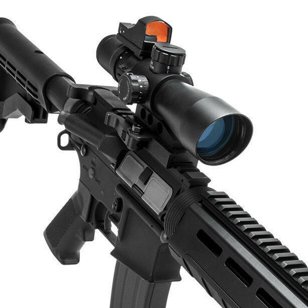NCSTAR STP3942GDV2 3-9X42 ULTIMATE SIGHTING SYSTEM RIFLE SCOPE & MICRO RED DOT