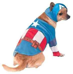 Image is loading Captain-America-Marvel-Avengers-Superhero-Dress-Up-Halloween-  sc 1 st  eBay & Captain America Marvel Avengers Superhero Dress Up Halloween Pet Dog ...
