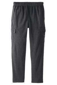 U-S-Polo-Assn-Men-039-s-Big-Tall-Fleece-Cargo-Pant-Heather-Dark-Gray-3X