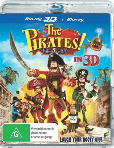 1 of 1 - The Pirates! Band Of Misfits (Blu-ray, 2012)