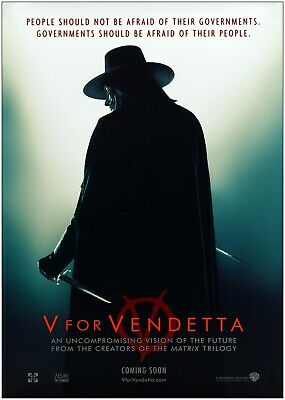 V For Vendetta Giant Poster A0 A1 A2 A3 A4 Sizes