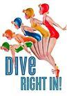 Lady Divers 6 Cards Individually Bagged With Envelopes Header Harris Benjami