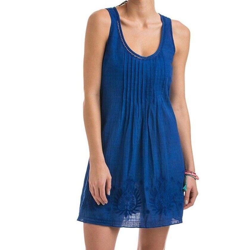 118 Nuevo con etiquetas VINEYARD VINES Campera Flor bloque bloque bloque bordado Cover-Up Dress Royal Ocean 50dc66