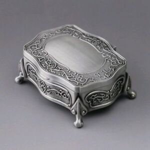 HIGH QUALITY TIN ALLOY RECTANGLE MUSIC BOX : GREENSLEEVES
