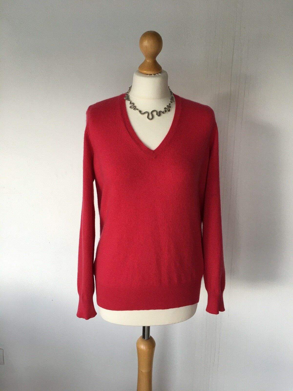 M & S Marks and Spencer AUTOGRAPH hot pink 100% PURE CASHMERE jumper