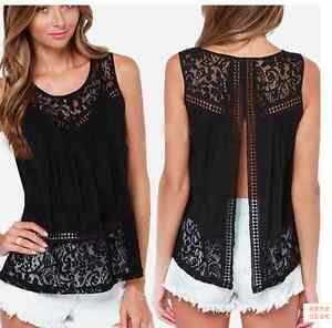 Fashion-Women-Summer-Vest-Top-Sleeveless-Blouse-Casual-Tank-Tops-T-Shirt-Lace