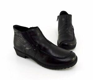 Rieker Winter Zipper Shoes Real Gr38 Stivaletti Low Leather Nero cTFK1Jl