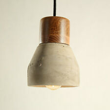 led Concrete Modern Ceiling Light Wood Pendant Light Fittings Vintage Chandelier
