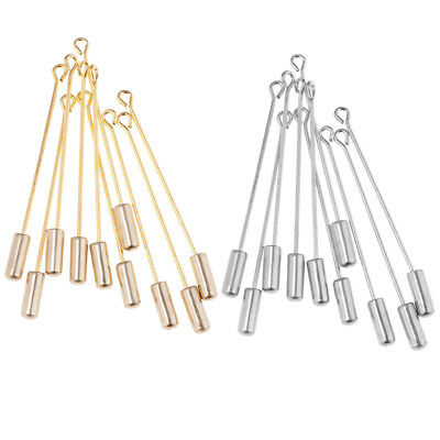 20Pcs Metal Tray Lapel Stick Brooch Pin Needle Suit Tie Hat Scarf Badge DIY