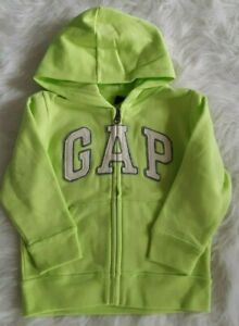 NWT-Gap-Boys-Lime-Neon-Green-Hoodie-Jacket-Size-3T