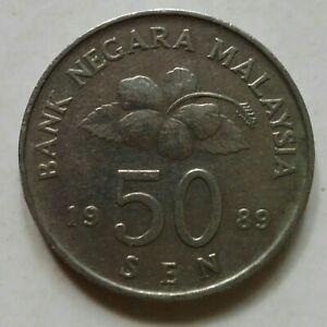 Second Series 50 sen coin 1989