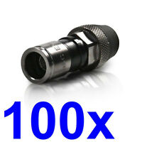 """PPC EX6WS Coax Cable fitting for RG6 """"AquaTight"""" qty 50 Pcs CATV Sat. freeship Cables and Connectors"""