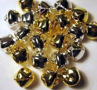 Metal Craft Bells 200 Shiny Jingle Bells 100 Each Silver + Gold 20mm 3/4