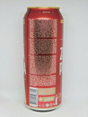 Bottom Open! 500 ml. 2020 New Empty Can Of Beer ZLATA PRAHA from Ukraine