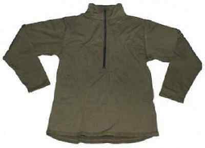 US Level II Army Long Sleeve Cold Weather Grid Fleece Hemd Usmc coyote Large