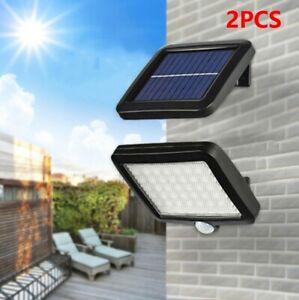 2Paires-56LED-Lampe-Solaire-Projecteur-Capteur-Mouvement-Jardin-Exterieur-CWME