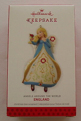 Hallmark 2013 England #3 Angels Around the World Series Christmas Ornament