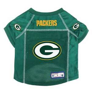 size 40 99a33 2cb8e Details about NEW GREEN BAY PACKERS DOG PET PREMIUM ALTERNATE JERSEY w/NAME  TAG LE