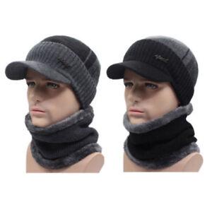 728cd1cc213 Winter Beanies Hat Men Women Wool Scarf   Cap Balaclava Mask Bonnet ...