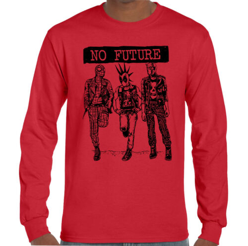 No Future Mens Funny Superhero Parody T-Shirt Spiderman Deadpool Daredevil Punk