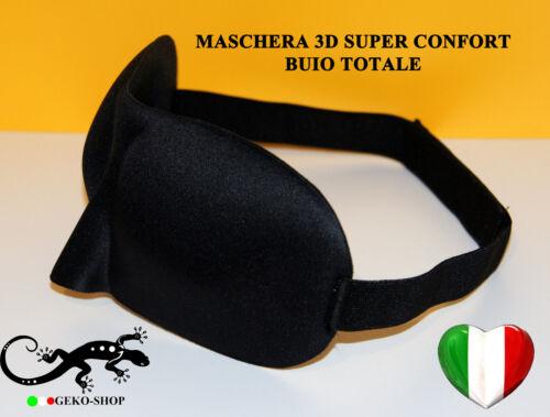 MASCHERINA 3D CONFORT DA VIAGGIO MASCHERA OCCHI NOTTE X DORMIRE BUIO TOTALE