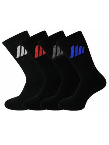 6 Hommes Qualité Active 4 rayures coton riche Sport Chaussettes De Travail//6-11