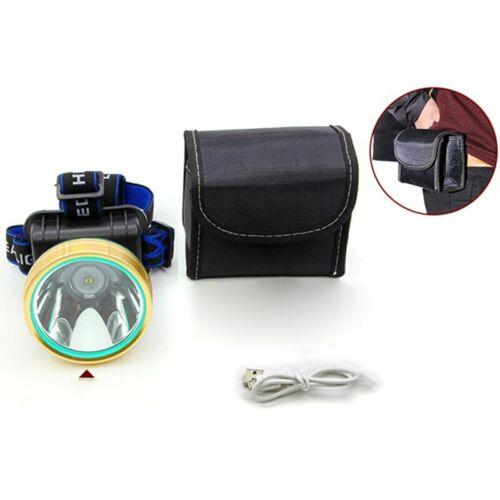 Sensor T6 led Headlamp USB rechargeable Headlight Flashlight 18650 head Torch