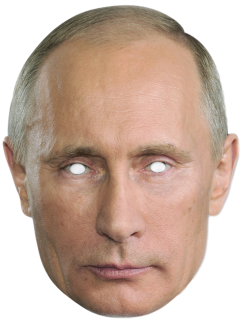 Vladimir Putin Mask President Policitcal Fancy Dress Outfit Costume Accessory