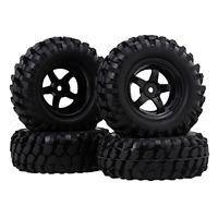 Rc1:10 Off-road Climbing Car Tires + Wheel Rim 12mm Hub Pack Of 4 .