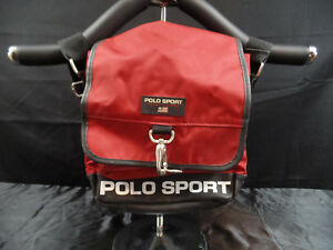 00f3782bfc VINTAGE POLO SPORT RALPH LAUREN MESSENGER BAG RED CLASP RARE CROSS ...