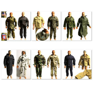 GI JOE Top Vest For 1:6 21st Century Toys WWII USA Uniform Dragon Soldier Figure