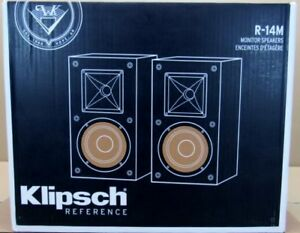 Pair Black NEW SEALED Klipsch Reference R-14M R14M Bookshelf Speakers