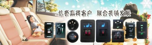 Universal car seat heater,rectangle rocker switch,2 seats,heated seat,car switch