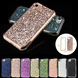Luxury-Bling-Glitter-Sparkle-Hybrid-PC-TPU-Case-Cover-For-iPhone-X-7-8-Plus-6s-6