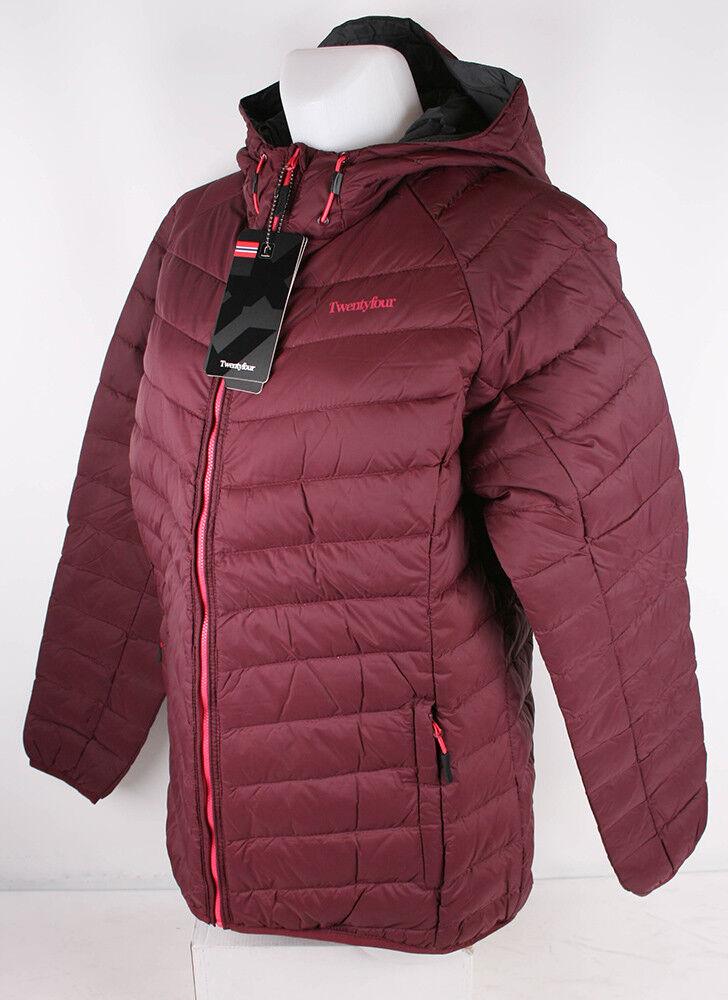 Twentyfour señora chaqueta salt lake leves chaqueta invierno con bolsa de viaje Borgoña 46