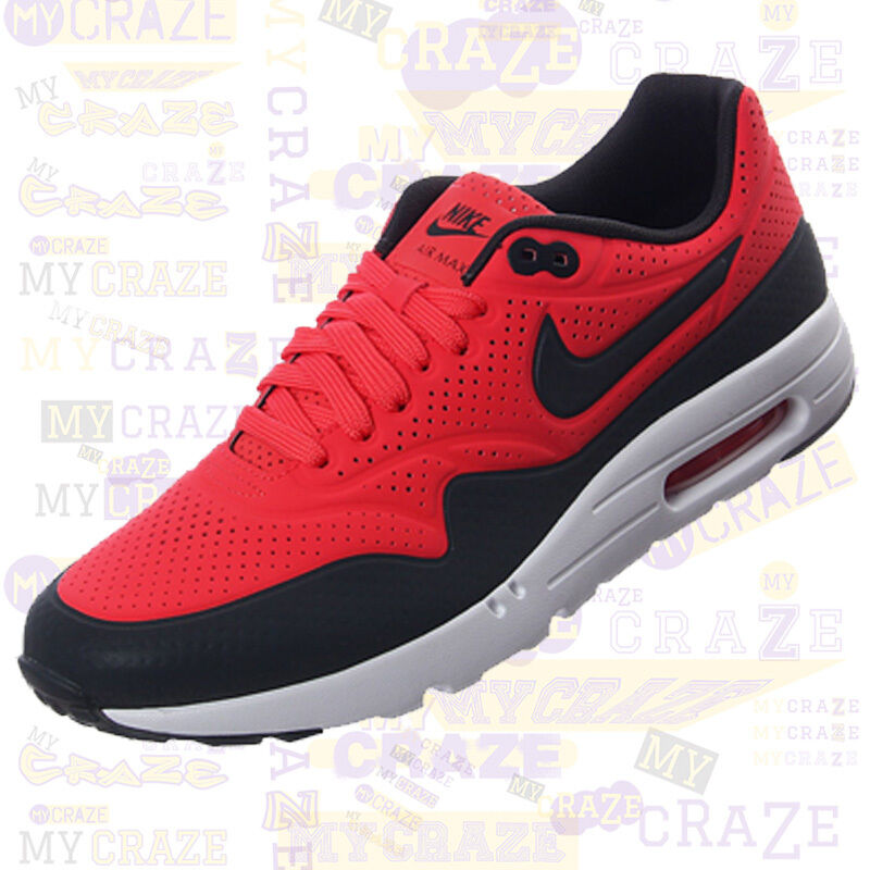 NIKE AIR MAX 1 Sneakers ULTRA MOIRE Rio Red MENS Sneakers 1 Trainers 091e4b