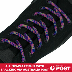 Bootlace Shoelace Round Shoe Boots Lace Sneakers Hiking Sports Pink Blue