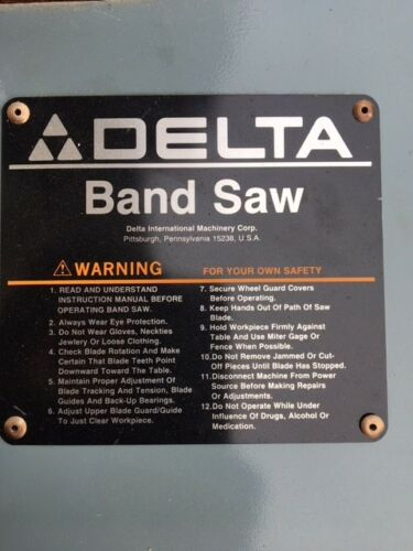 """Delta 14/"""" Bandsaw Parts Upper and Lower Wheel Guards covers"""