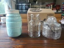 3 Piece Country Style Kitchen Gadgets Mason Jar Measuring Cup Creamer sweetener